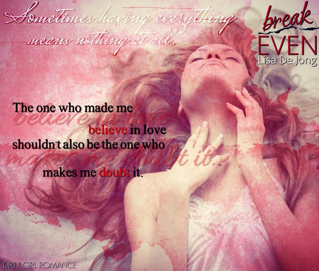 Break Even teaser 2 @DGR